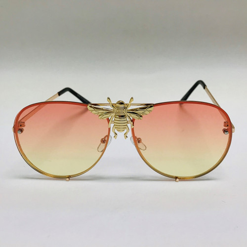 Women Men Sunglasses Fashion Moth bug Retro Bee Style Fancy Round Miami Style Gafas Lentes