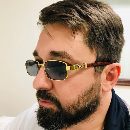 Fashion Gold Metal Frame Clear Migos Buffs Rap Hip-hop Shades New Hot Sunglasses Gafs Lentes Para  Hombres
