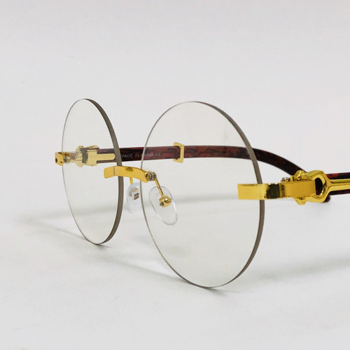 Fashion Gold Metal Frame Rimless Round Hip Hop Style Rapper Design Black Brown Lens Migos Buffs Rap Hip-hop Shades New Hot Sunglasses Gafs Lentes Para  Hombres