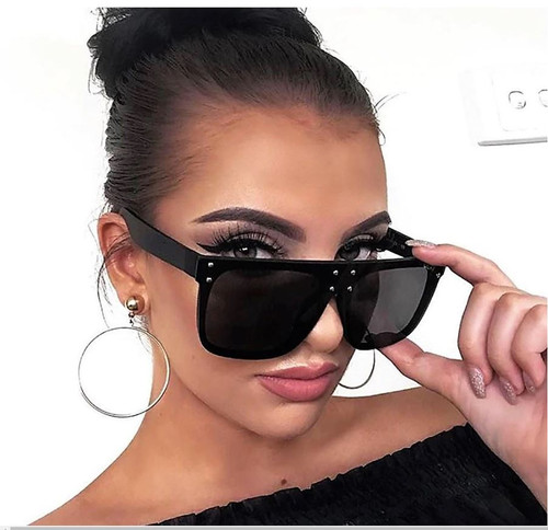 Oversize Square Hidden Hills Flat Lens Men Women Fashion Style Sunglasses Shades Gafas Lentes De Moda Para Mujeres