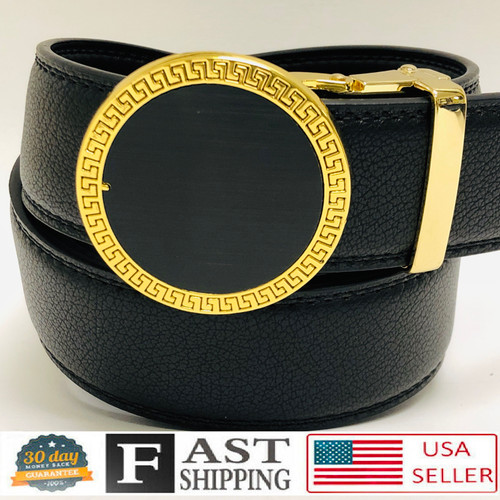 Fashion Men Designer Genuine Leather Gold Slide Sliding Buckle nohole New Belt  Correas Cinturones de Piel Moderno Sin Hoyos Hombre Nueva Moda Track