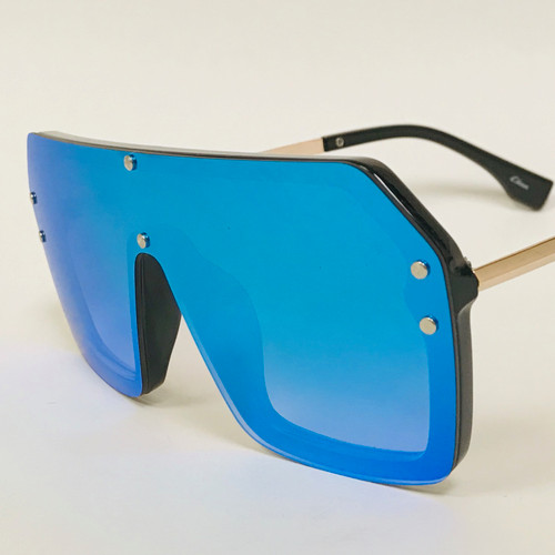 Fashion Oversize Flat Mirror Lens Square Large Men's Women's Miami Sunglasses Gafas Lentes De Moda Para Hombres Mujeres