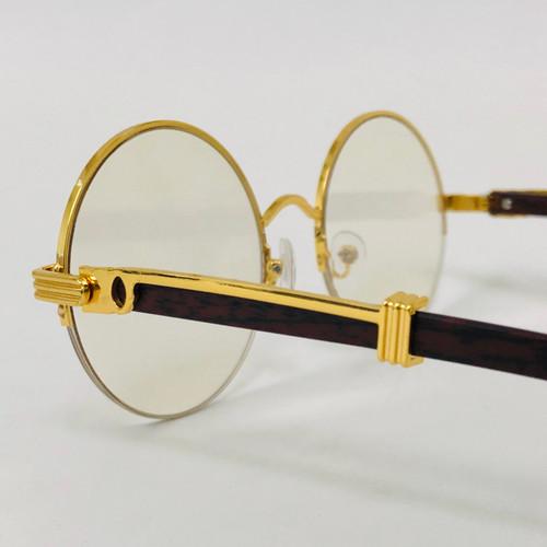 Fashion Gold Metal Frame Rimless Round Hip Hop Style Rapper Design Clear Lens Migos Buffs Rap Hip-hop Shades New Hot Sunglasses Gafs Lentes Para Hombres