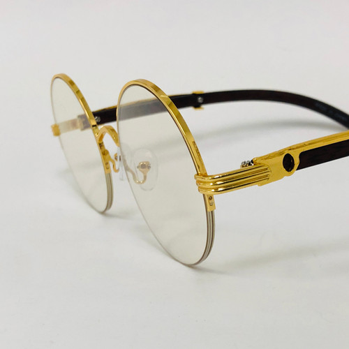 Fashion Gold Metal Frame Rimless Round Hip Hop Style Rapper Design Clear Lens Migos Buffs Rap Hip-hop Shades New Hot Sunglasses Gafs Lentes Para Hombres