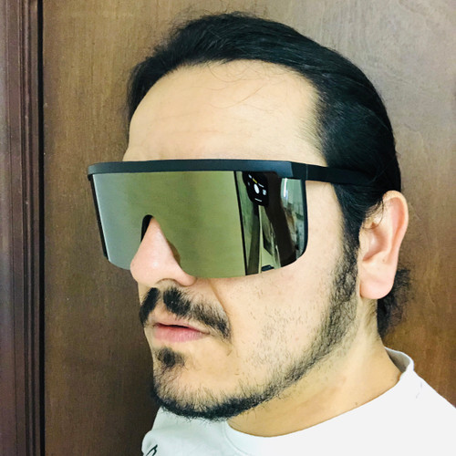 Sunglasses Women Mens Oversize Huge Visor Big Shield Mask Half Face Large Mirror Gafas De Sol Lentes Para Hombres Mujeres
