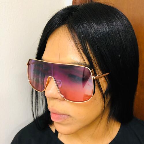 Fashion Designer Oversized Square Gold Metal Frame Big Women Men New Sunglasses  Gafas Lentes Oculos de Sol Regalos Para Hombres y Mujeres