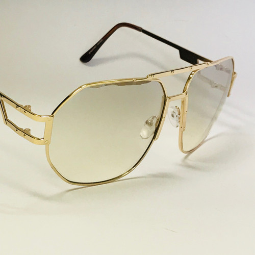 Fashion Gold Metal Frame Round Hip Hop Style Rapper Design Clear Lens Migos Buffs Rap Hip-hop Shades New Hot Sunglasses Gafs Lentes Para Hombres Vintage  Migos Design Eye glasses Round Gold Frame Clear Lens Glasses Men's Sunglasses Round 2020 Model Sophisticated