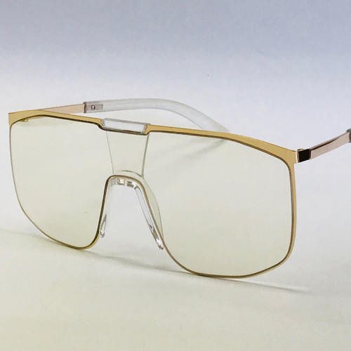 Designer Men Eye Glasses Sunglasses Vintage Black Gold Frame Black Brown Lens Model Gafas Lentes