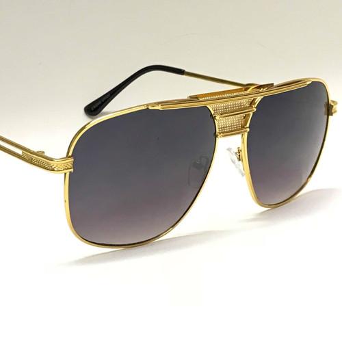 Men Women Designer Sunglasses Shades Aviator Gold Frame Classic Square Style Luxury Celebrity Model Gafas Lentes Para Mujer