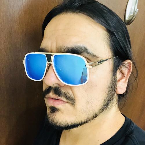 Men  Designer Sunglasses Shades Aviator Gold Frame Classic Square Style Grandmaster Celebrity Model Gafas Lentes Para Mujer