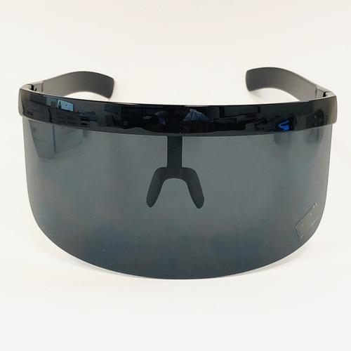 Protective Eye Face Cover Fit Over Lens Glasses Visor Shield Futuristic Shades  One Piece Mirror Mono Lens Gafas Lentes Para Mujeres Hombres