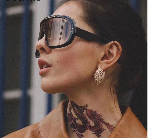 Men Women Designer Sunglasses Shades Fashion Oversize Single Lens