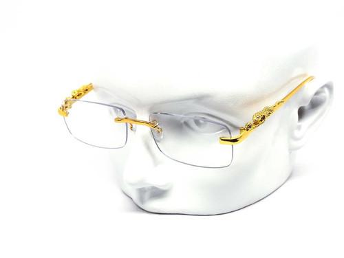 Men's Sunglasses Clear Lens  Hip Hop Quavo Migos Rimless Square Frame