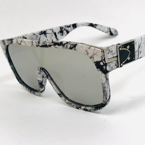 Men Women Oversize Sunglasses Flat Lens Square J Balvin Royale Shades
