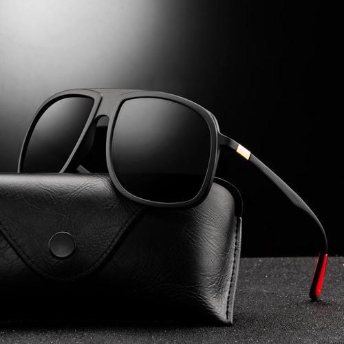 Men Polarized  Sunglasses Square  Designer Retro Vintage Sport Classic  Shades