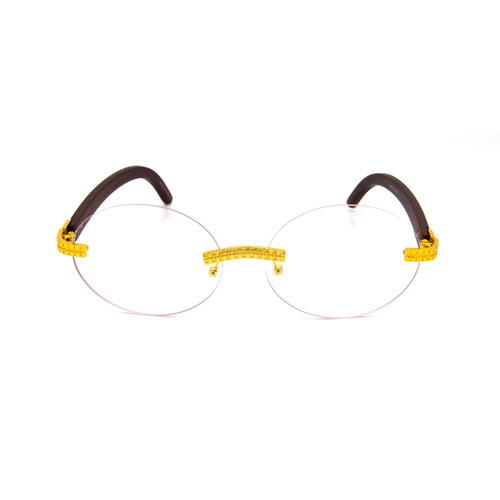 Men's Sunglasses Designer Hip Hop Quavo Migos  Rimless Oval Frame Clear Lens