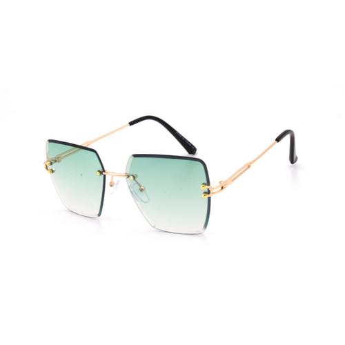 Women's Sunglasses Cat Eye Designer Diamond Cut Lens Oversized NEW Rimless