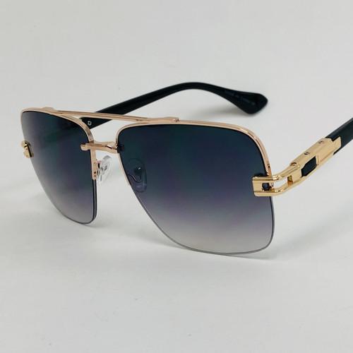 Men Sunglasses Designer Square Oversized Retro Shades Gold Frame Fashion