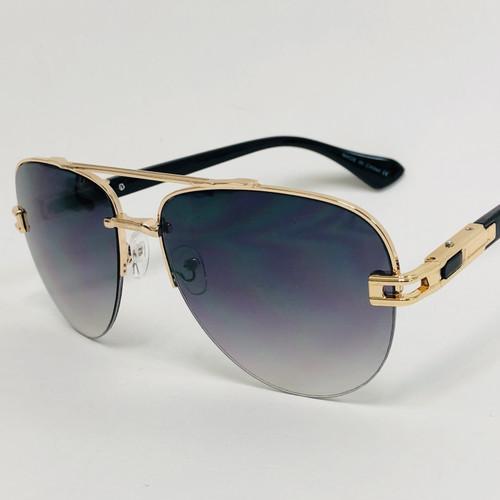 Men Sunglasses Designer Square Oversized Pilot Retro Shades Gold Frame Fashion