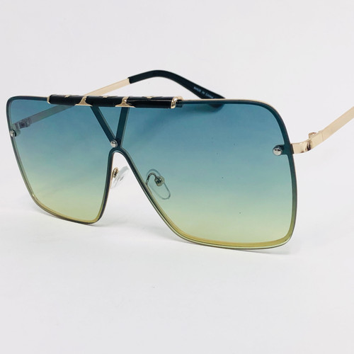 Men Women Designer Sunglasses  Shades Fashion Oversize Large  Flat Lens  Style