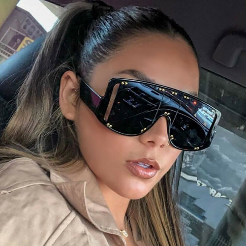 Men Women Sunglasses Fashion Square Designer  Flat Lens Oversize  Large