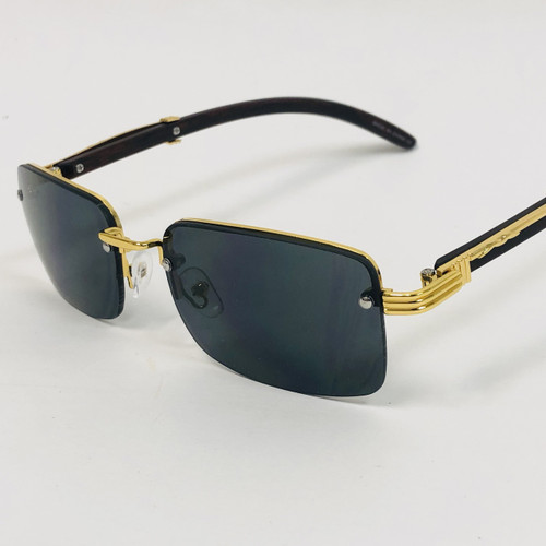 Men's Sunglasses Hip Hop Square Frame Clear Lens Rappers  Rimless Shades