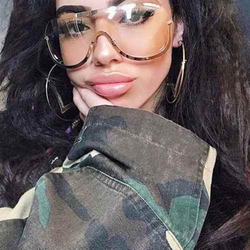 Women Men Designer Sunglasses Shades Single Lens Reflective Mirror Oversize Gafas Lentes Mujeres Hombres
