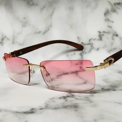 Rimless Square Sunglasses Classic Fashion Hip Hop Rap Migos Style
