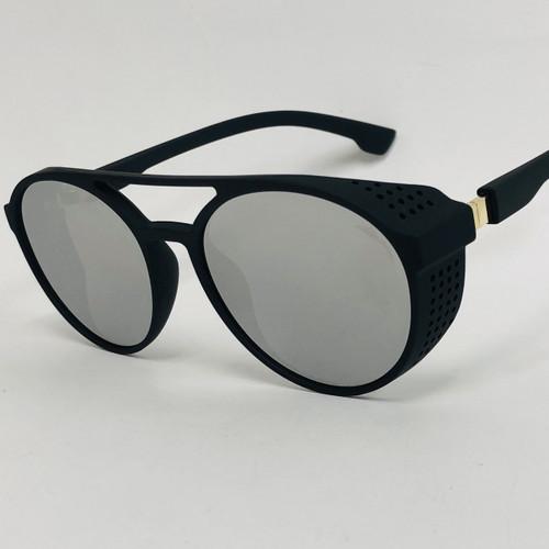 Round Coachella Festival Hippie Burning Man Ultra EDM Tomorrowland Rave Fashion Sunglasses Shades with Shields on the Sides Frames Eye Wear Eyewear
