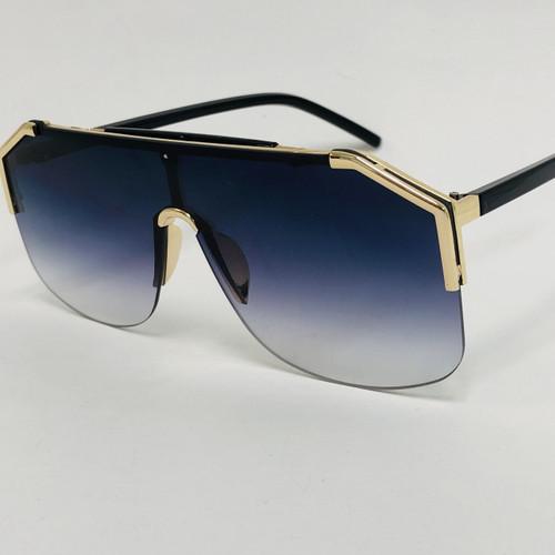 Men Women Designer Sunglasses  Shades Fashion Oversize Flat Lens Metal