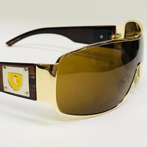 Men Sunglasses Fashion Designer Single Lens Wrap Around