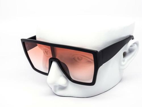 Sunglasses Women Men Fashion Oversize Pink Mirror Lens Shield Flat Celebrity NEW Gafas de Sol Lentes de Moda Disenador Cuadrado Grande Para Hombres y Mujeres
