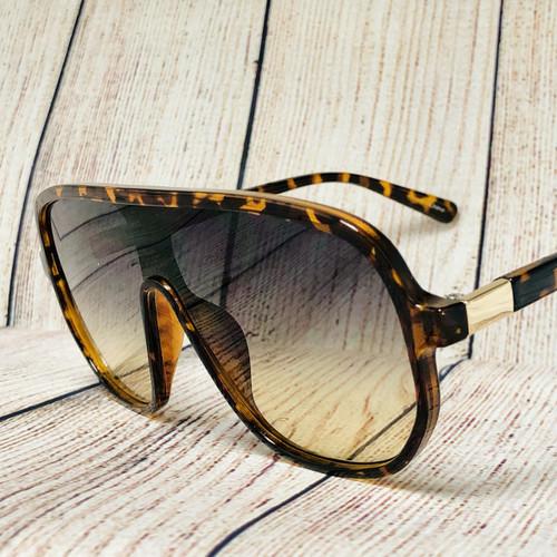 Men Women Sunglasses Square Large Frame New Style Flat Lens