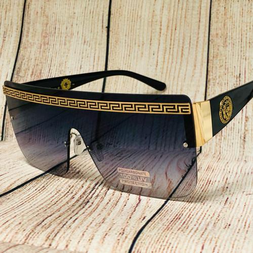 Men Women Sunglasses Square Large Frame Flat Top Lens Oversized