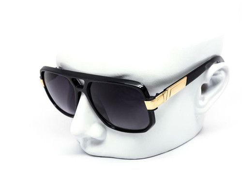 Men Designer Black Lens Sunglasses Hip Hop Shades Aviator Gold Frame Classic Square Style Grandmaster Celebrity Model Gafas Lentes Para Mujer