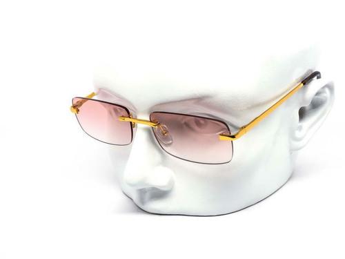 Men Women Sunglasses Small Frame Rimless Hip Hop Shades