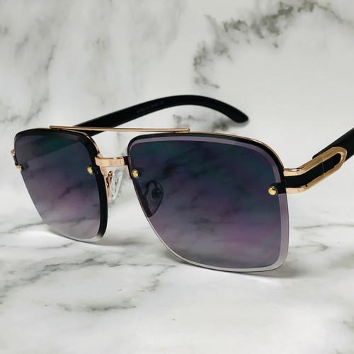 Sunglasses Square Aviator Style Large Frame Designer Shades