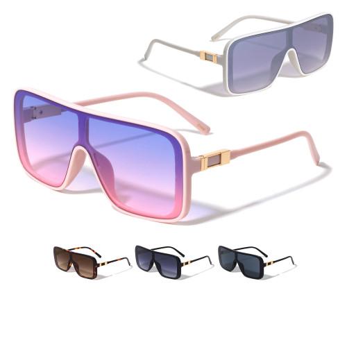 Fashion Sunglasses Designer Square Rimless Shades Flat Lens