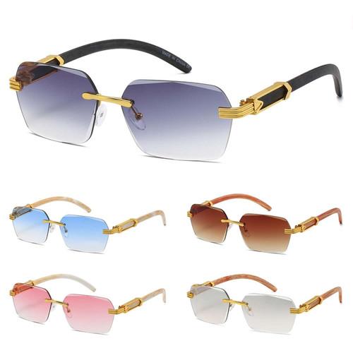 Rimless Sunglasses Square Shades Hip Hop Migos