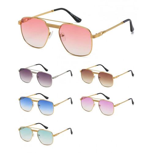 Designer Men Women Fashion Sunglasses Square Gold Shades