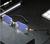 Mens Eye Glasses Clear Lens Rimless Small Reflective Square Silver Frame Fashion Diamond Cut Anti Blue Light Blocking