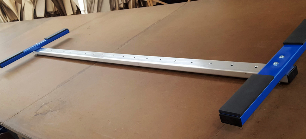 "New CT T-Bar 2X Rack with 1.5"" rounded edge rail & powder coated T."
