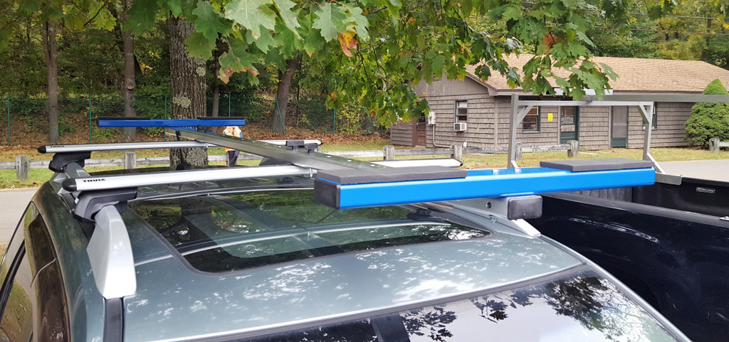 New CT T-Bar 2X Rack.  Great for carrying your 2X, gunwale side down.