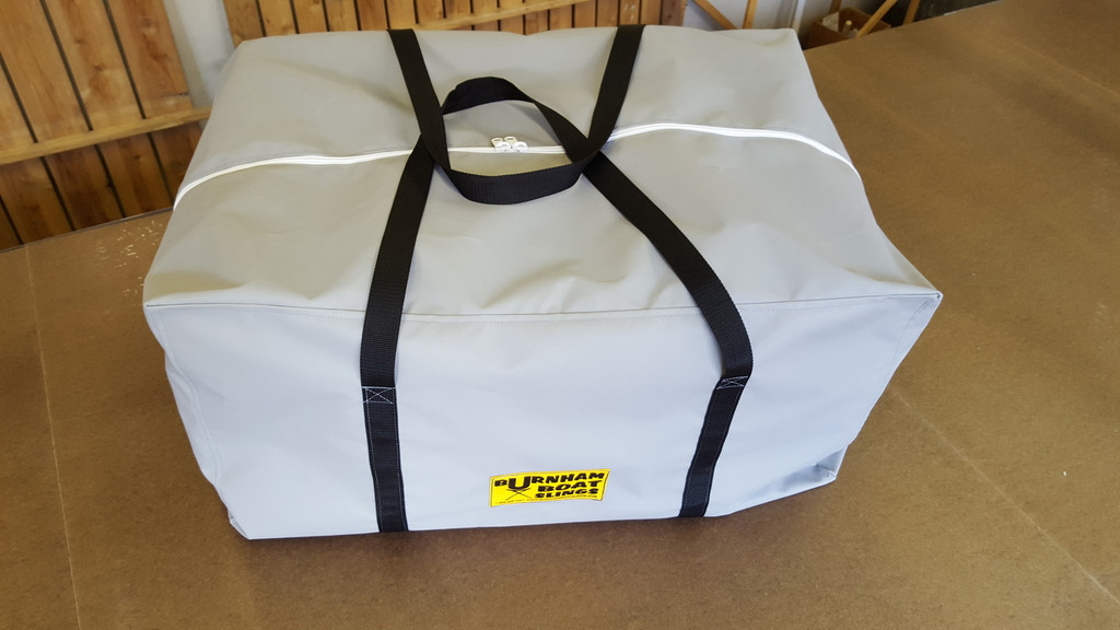 """Keep your Boathouse organized.  Simplify your life!  Make derigging & loading faster & more efficient.  Store your 4 & 8 covers in a great new bag.  Measures 36"""" x 24"""" 18"""".  Fully available in team colors.  Made of 1000 Denier Cordura Nylon in USA."""