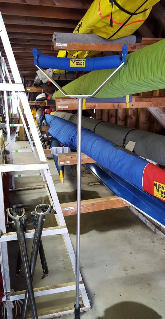 """Burnham Boathouse Lift.  5'4"""" Aluminum Pole for Strength, Lightness & ease of use. Set of (2) pcs."""