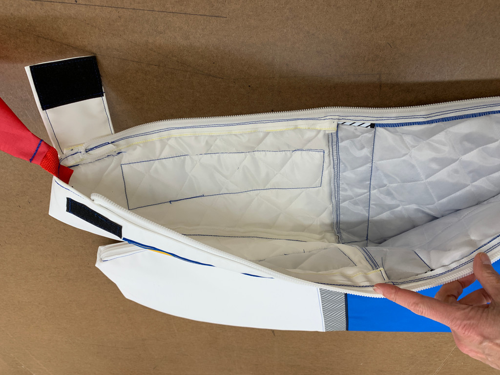 Add a nylon quilted lining to your surf ski cover for extra padding and protection.  The lining is sewn to the cover sections before assembly, resulting in a durable, snug fitting cover.