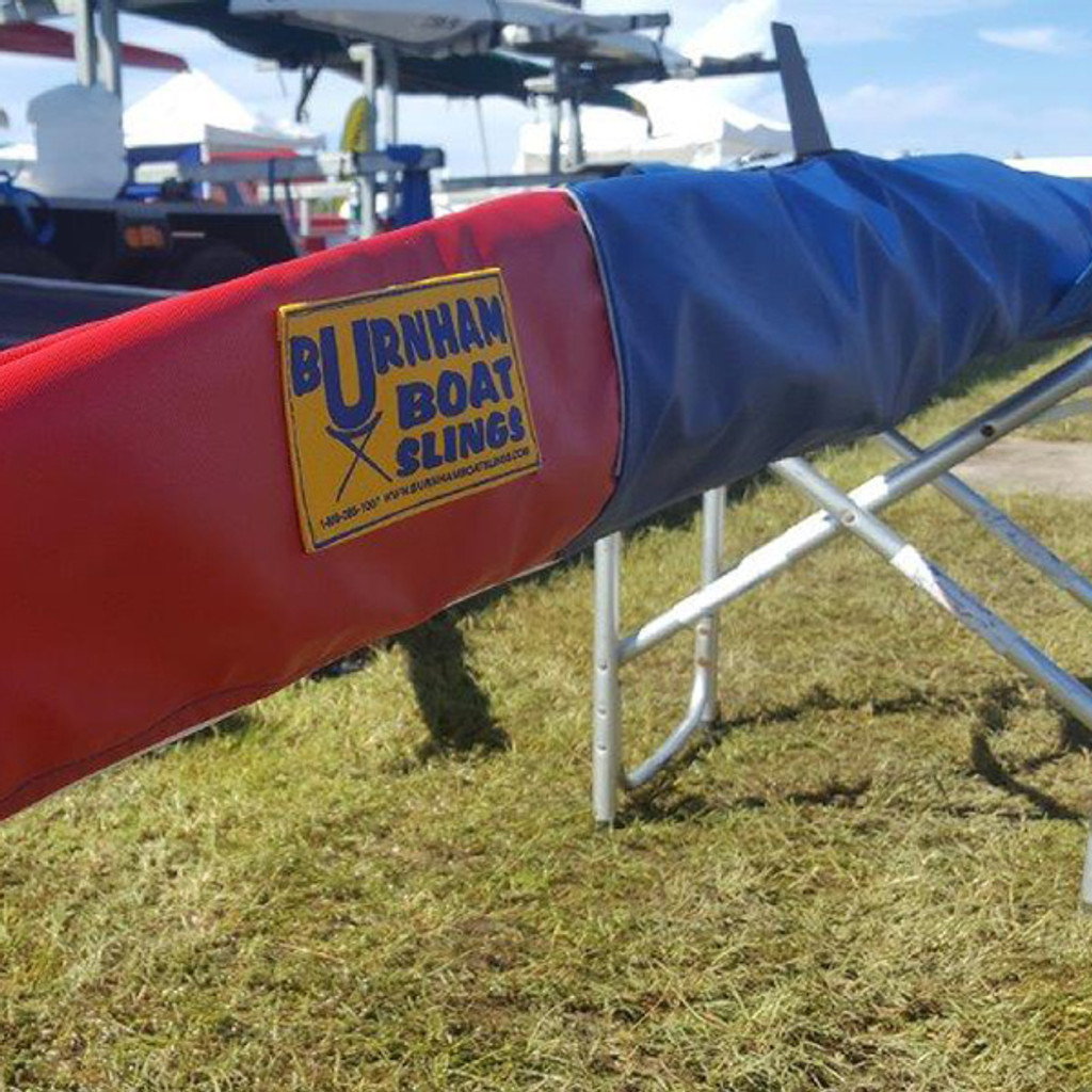 Close up of custom rowing shell cover.  Look for our new logo!
