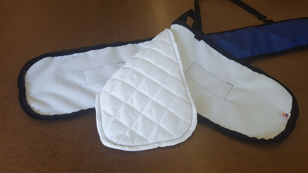 kayak paddle carrying bag interior is a signature quilted nylon lining