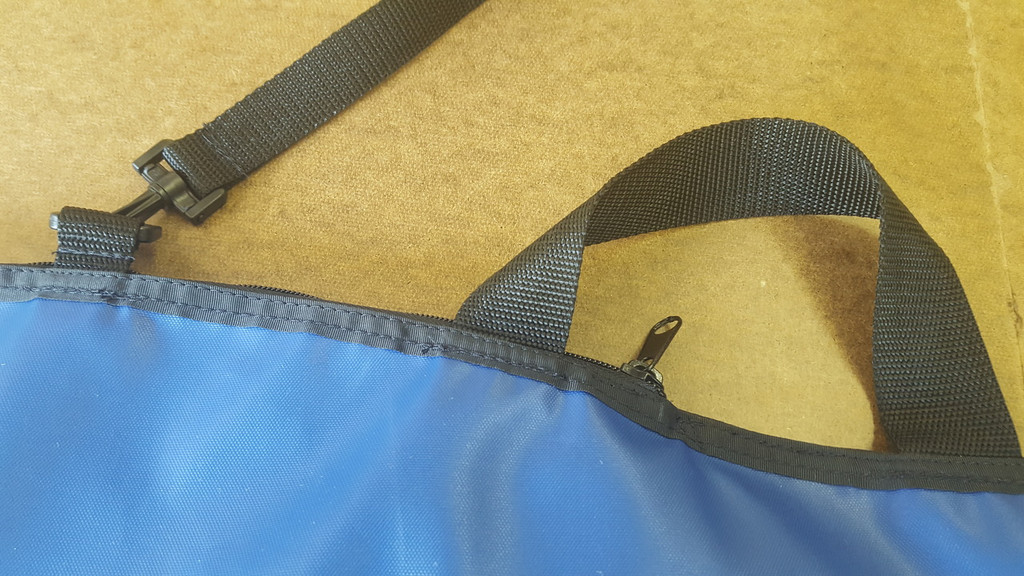 handy carrying strap on our kayak paddle carrying bag