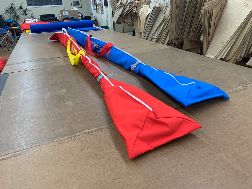 Custom Oar Bag in WeatherMAX. Travel South (or anywhere you can row)!